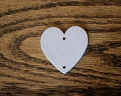 """50 Wooden Hearts Predrilled Holes 1 3/8"""" wood heart"""