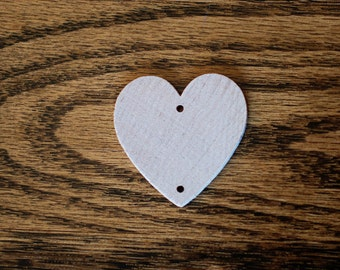 "100 Wooden Hearts Predrilled Holes 1 3/8"" wood heart wedding anniversary"
