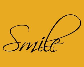 Smile Decor vinyl wall decal quote sticker Inspiration