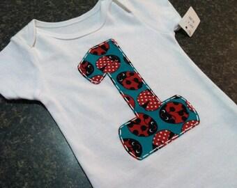Ladybug 1st Birthday Onesie