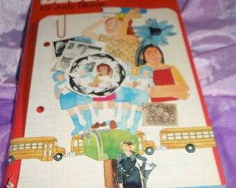 Blubber by Judy Blume HBDJ Book Vintage 1974