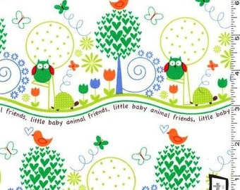 SALE - Animal Friends - green from Michael Miller