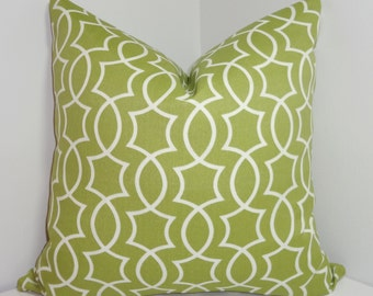 OUTDOOR Apple Green Geometric Pillow Cover Cushion Covers Porch Pillows 18x18