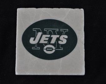 New York Jets Coasters Set of 4 handcrafted