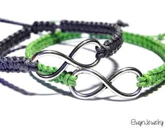 His Hers Bracelets, Couples Bracelets, Infinity Bracelets, Friendship Bracelets, Matching Bracelets, Anniversary Bracelet, Love Bracelets