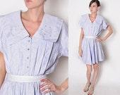 Vintage 80s Lavendar dolly mini dress