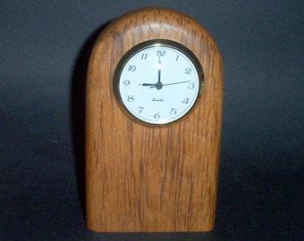 Contemporary Desk Clock (Teak)