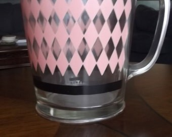 Retro 50s Modernistic Juice Pitcher