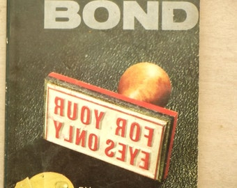 1960s James Bond For Your Eyes Only Ian Fleming paperback book