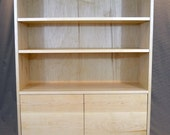 Solid Maple and steel bookcase