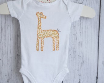 Giraffe on Short Sleeve Bodysuit