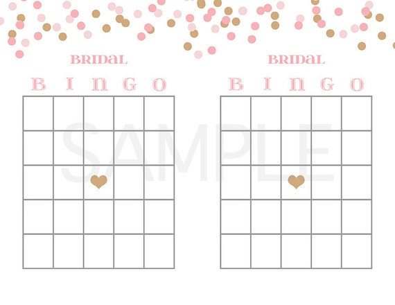 Bridal Shower Game Printable Bridal Bingo by AMomentRemembered