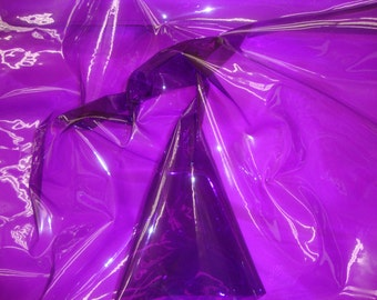 "54"" Wide Purple 10 Gauge Transparent Tinted Plastic Vinyl Tinted 54 Inch Wide Fabric By the Yard"