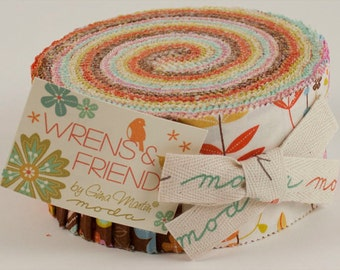 Wrens Friends Jelly roll for Moda fabric