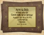 Dinner Party Invitation, Cocktail Party Invitation