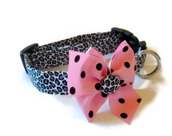 Leopard Cheetah Dog Collar size Medium