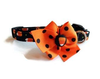 Halloween Candy Corn Dog Collar size Small