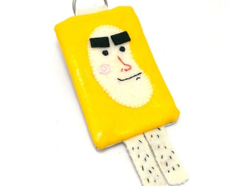 "Oyster Card Holder,Funny Ornament,""Yellow banana man"""