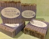 Lavender Soap Handmade with freshly dried lavender seeds - Pure and Natural