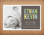 custom photo baby girl or boy birth announcement - easter fun