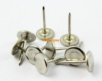 100Pcs 11mm Silver Upholstery Tacks Nails Small (TN12)