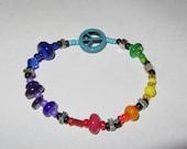 Rainbow Peace Bracelet, wear it with Pride
