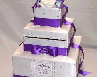 Elegant Custom Made Wedding Card Box-lots of sparkle