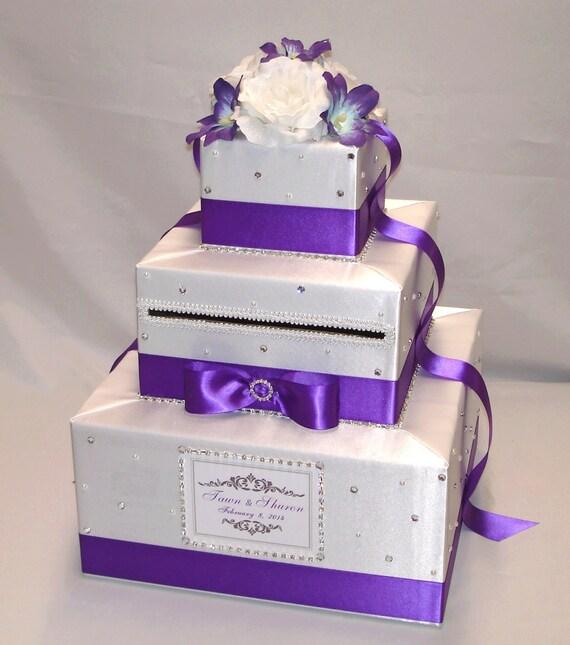 Elegant Custom Made Wedding Card Box-lots Of Sparkle