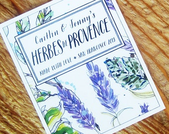 Personalized Lavender,Herb Labels or Gift Tag, Set of 18