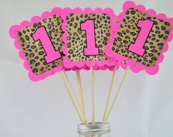 Cheetah Print Party Centerpieces, Cheetah Theme, Bright Pink Birthday, Cheetah  Baby Shower Theme