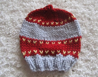 Baby Hat, Red and Lt. Blue