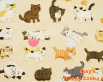Cat Wonderland - Funny Sticker World - 3D PVC Deco Sticker - 1 Sheet