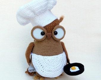 Omelette the owl - amigurumi PDF crochet pattern