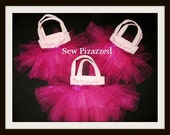 Pinkalicious Embroidered Party Favor Size Tutu Tote Bags