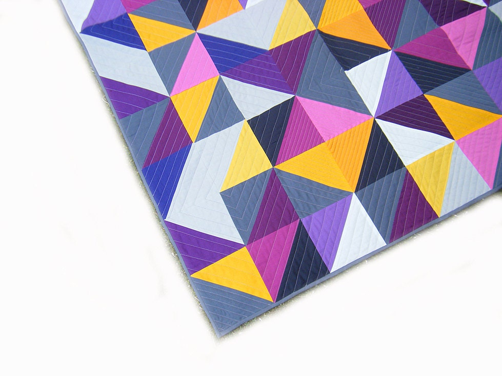 Modern Geometric Quilt Baby Quilt Wall Hanging Crib Quilt