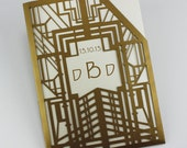 "Laser cut pocket - ""Great Gatsby Pocket"""