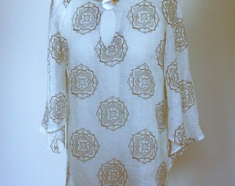 Linen tinic    Pure linen woman tunic   Summer fashion   Ready to ship