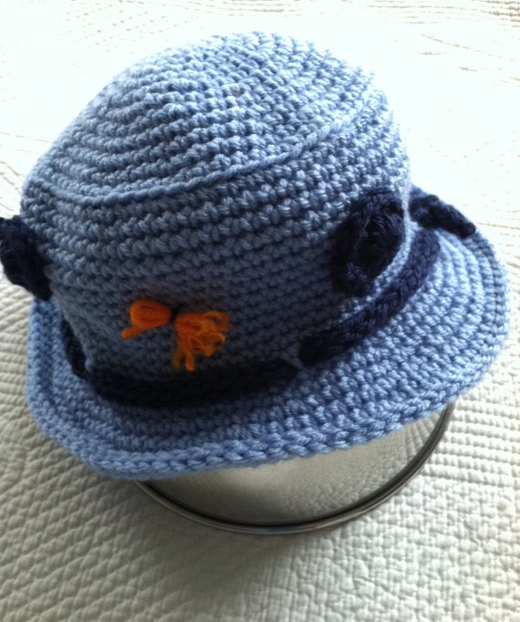 Crochet Baby Hat, Child Hat, Child Fishing Hat, Baby Fishing Hat, Little Boy Hat, Newborn Hat, Fishing, Blue Hat