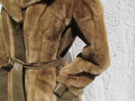 tan vintage faux fur jacket
