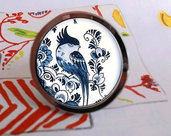 Delftware Pottery Bird Drawer Pull Cabinet Knob Handle Housewares Gift