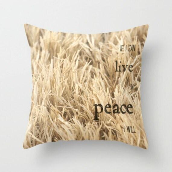 Items similar to Farmhouse Pillows Throw Pillows with Words Throw Pillows Gold ...