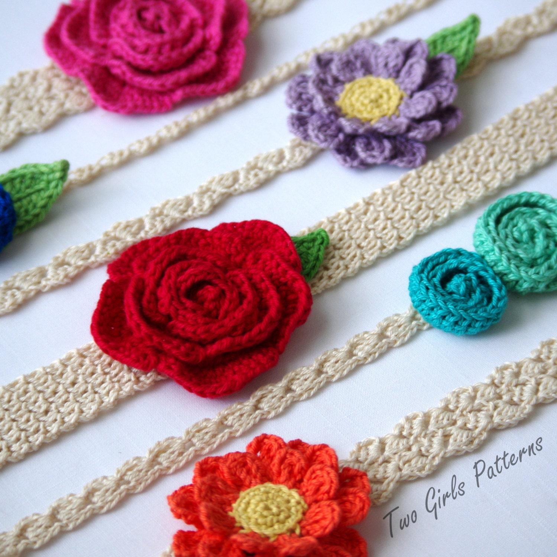 Easy crochet headband pattern 6 headbands 3 flower patterns zoom bankloansurffo Choice Image