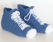 Crocheted  Unisex Sneaker  high top shoes, Unisex Slippers PDF, Unique crochet Patterns