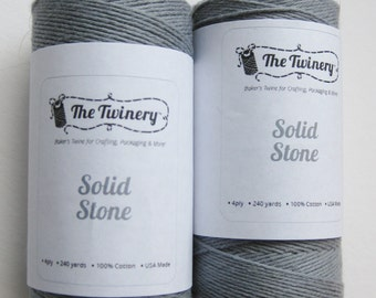 10 Yards of SOLID STONE - Gray Bakers Twine