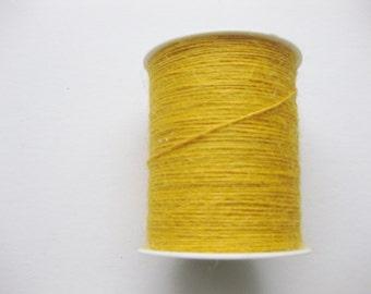 50 Yards of 1mm Yellow Jute Twine