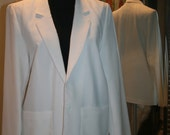 Vintage Off Winter White 1981 Professional Pant Suit Jacket