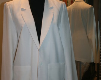 Vintage Off Winter White 1981 Professional Pant Suit Jacket