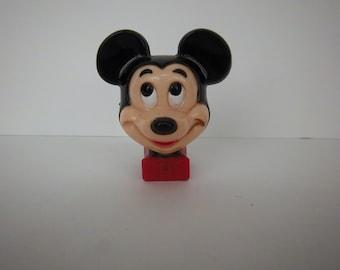 Vintage Disney Mickey Mouse Nightlight plug in plastic still works