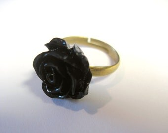 Rose Ring Adjustable Real Brass Matches my Roses are... Ear Cuffs