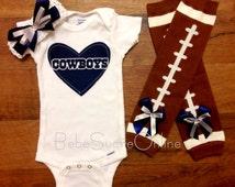 Dallas Cowboys Bodysuit Headband & Leg Warmers